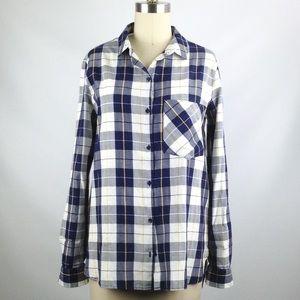 Zara Plaid Flannel Button Down Women's  Shirt